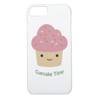 ¡Tiempo de la magdalena! Magdalena rosada linda Funda iPhone 7