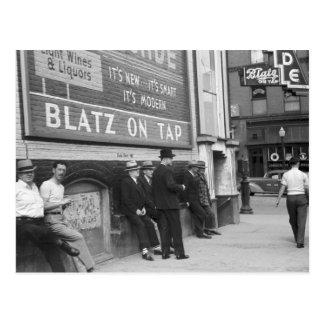 Tiempo de la matanza en Butte, 1939 Tarjeta Postal