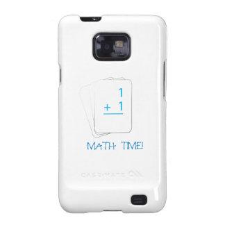 Tiempo de la matemáticas samsung galaxy SII carcasa