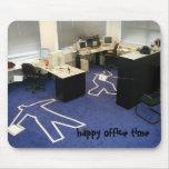 ¡Tiempo de la oficina!! Alfombrillas De Ratones