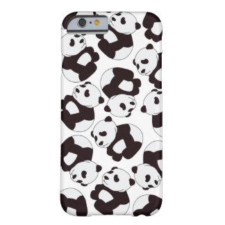 ¡Tiempo de la panda! Caso Funda Para iPhone 6 Barely There