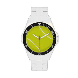 Tiempo de la pelota de tenis relojes de pulsera