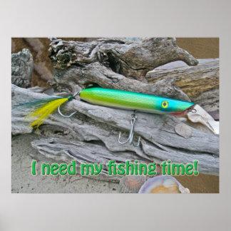 Tiempo de la pesca del dragón de agua del poster A