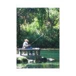 Tiempo de la pesca impresión de lienzo