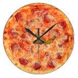 Tiempo de la pizza de salchichones reloj