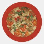 ¡Tiempo de la pizza - pidamos una pizza! Pegatina Redonda