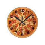 Tiempo de la pizza reloj de pared