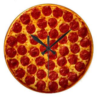 Tiempo de la pizza reloj redondo grande