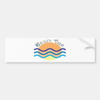 Tiempo de la playa pegatina de parachoque