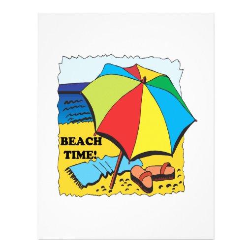"""Tiempo de la playa folleto 8.5"""" x 11"""""""