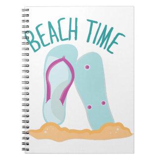 Tiempo de la playa libro de apuntes con espiral