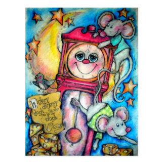 Tiempo de la poesía infantil del muelle de Dickory Tarjetas Postales