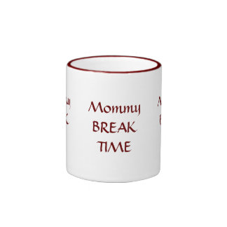 TIEMPO de la ROTURA de la mamá Tazas De Café
