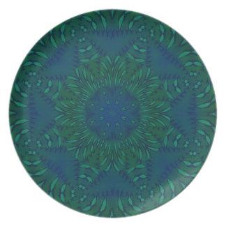 Tiempo de la selva en azul plato de cena