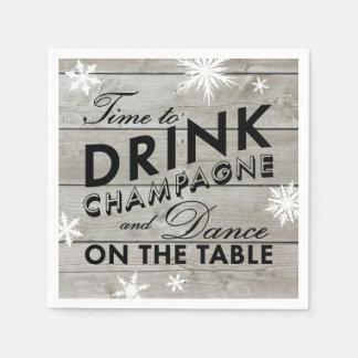 Tiempo de la servilleta del copo de nieve para servilleta de papel