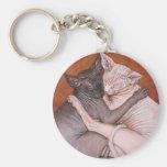 Tiempo de la siesta de los gatos del gato de la es llavero redondo tipo pin