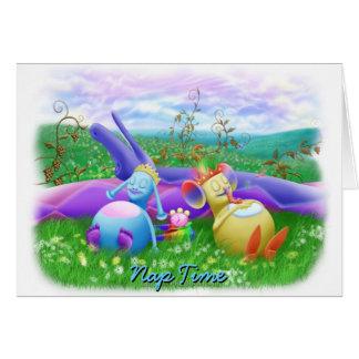Tiempo de la siesta tarjeta de felicitación