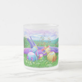 Tiempo de la siesta taza de cristal