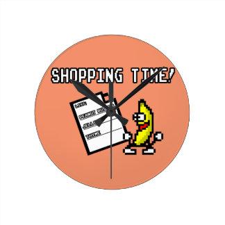 Tiempo de las compras del tomillo de la jalea de reloj redondo mediano