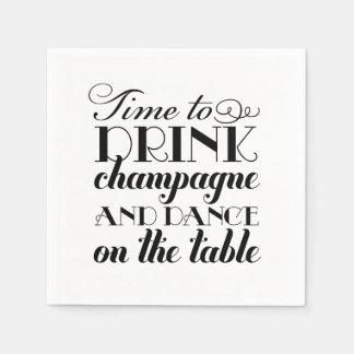 Tiempo de las servilletas el | del boda para beber servilleta desechable
