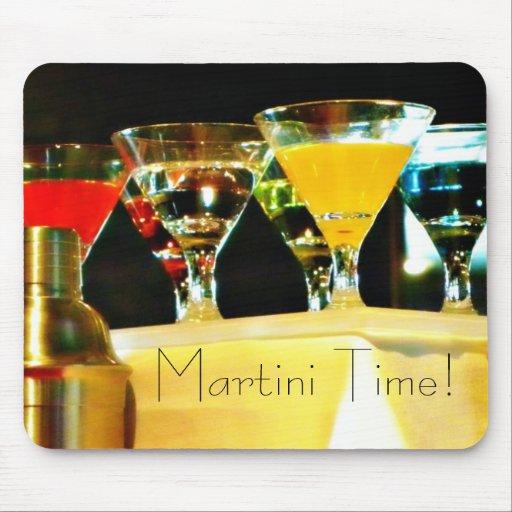 Tiempo de Martini Alfombrillas De Raton