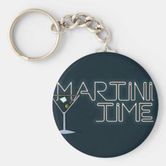 Tiempo de Martini Llavero Redondo Tipo Pin