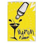 Tiempo de Martini (tarjeta en blanco/personalizar)