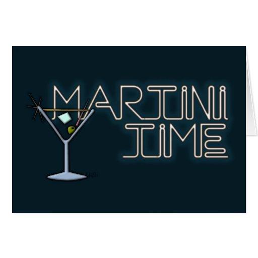 Tiempo de Martini Tarjetas