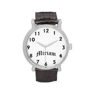 Tiempo de Miriam Relojes De Pulsera