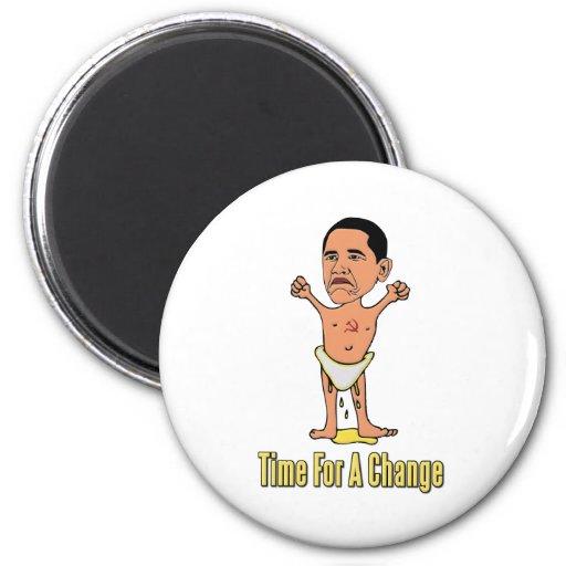 Tiempo de Obama para un cambio Imán De Nevera