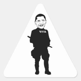 Tiempo de Obama Pegatina Triangular