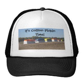 Tiempo de Pickin del algodón Gorras De Camionero