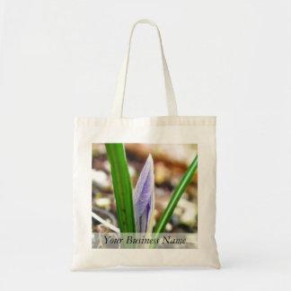 ¡Tiempo de primavera!  Brote del azafrán Bolsa Lienzo