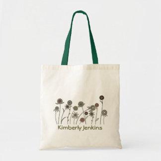 Tiempo de primavera de las flores salvajes bolsas lienzo