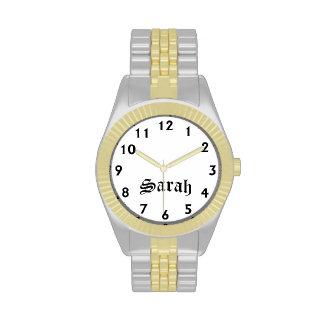 Tiempo de Sarah Reloj