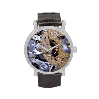 Tiempo de Steampunk - movimiento del latón de Reloj