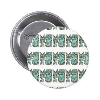 Tiempo de Tiki en aguamarina Pin Redondo 5 Cm