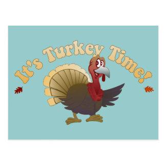 Tiempo de Turquía [acción de gracias] Tarjeta Postal