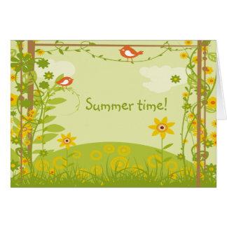 ¡Tiempo de verano genérico de la tarjeta de felici