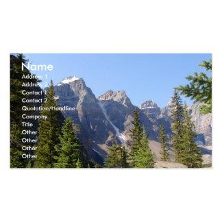 Tiempo de verano/montañas tarjeta de visita