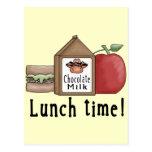 Tiempo del almuerzo postal