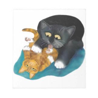 Tiempo del baño para el gatito del tigre libreta para notas