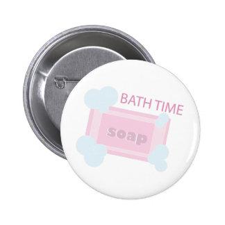 Tiempo del baño pin redondo 5 cm