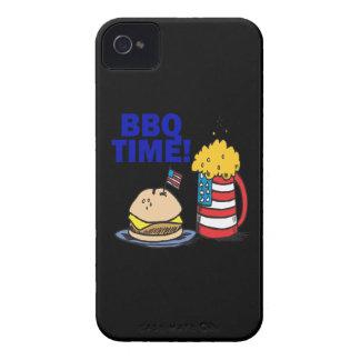 Tiempo del Bbq iPhone 4 Case-Mate Protectores