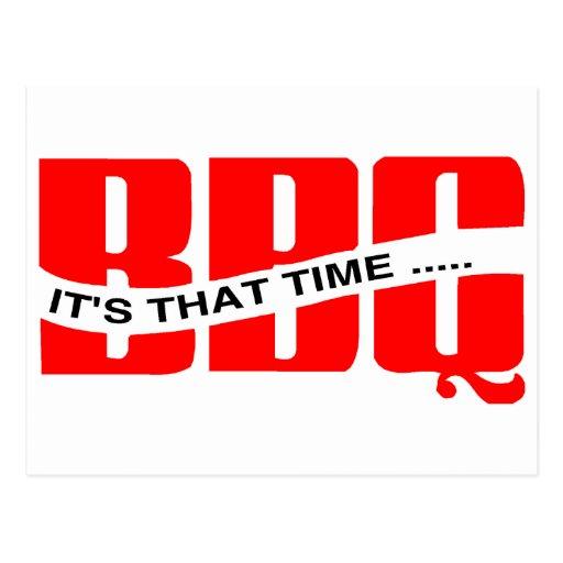 Tiempo del Bbq Tarjetas Postales