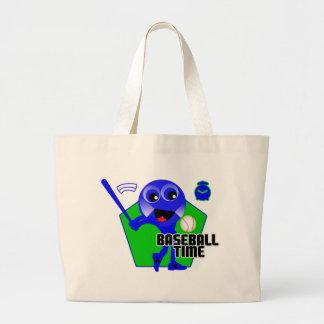 Tiempo del béisbol bolsa tela grande