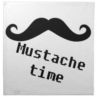 tiempo del bigote servilleta imprimida