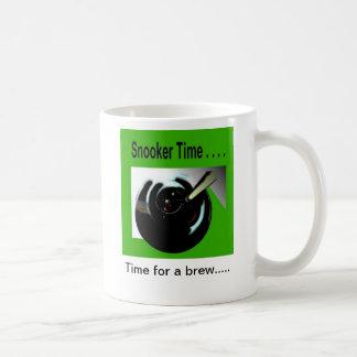 tiempo del billar taza