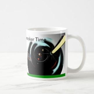 Tiempo del billar tazas de café