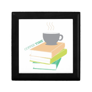 Tiempo del café cajas de recuerdo